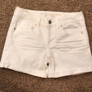 American Eagle White Mini Shorts